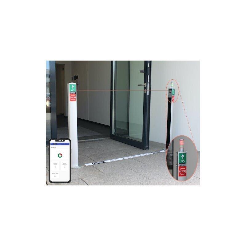 Personenzähler Lichtschranke Eingangskontrolle mit Ampel