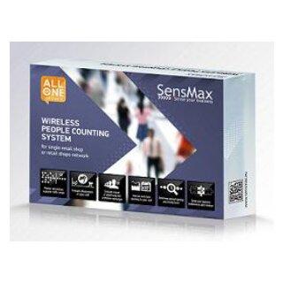 SensMax D3 Personenzählsystem Komplettpaket zur automatischen Auslesung per Funk (Reichweite 20m) - schwarz