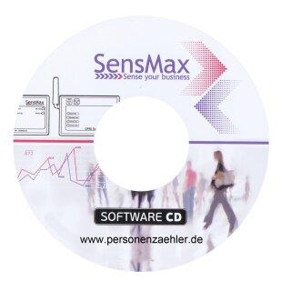 SensMax DE Personenzählsystem Komplettpaket zur manuellen Auslesung per infrarot - weiß