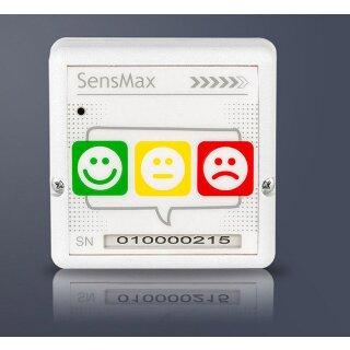 SensMax Loyalty Button - Timestamp LR - Reichweite 50m - Kundenzufriedenheit - weiß