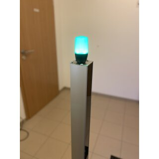 RAZL2 - Personenzähler Lichtschranke mit 2 Alu Säulen und Ampelanzeige (Standalone)
