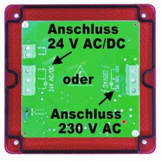 A115 rot/grün Ampel eckig, 24V/230V